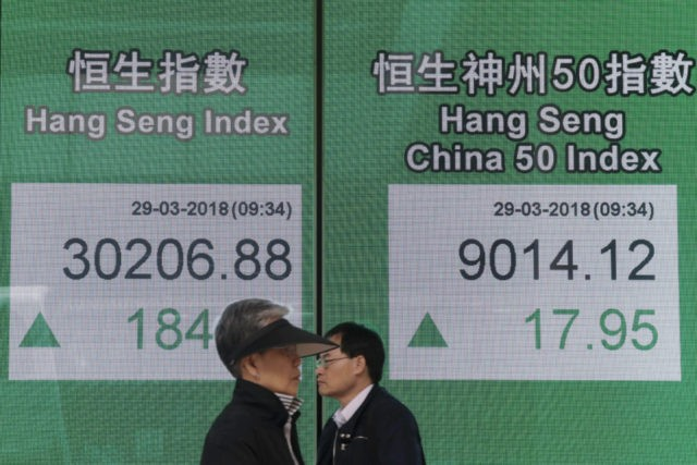 World stock markets higher as geopolitical tension eases