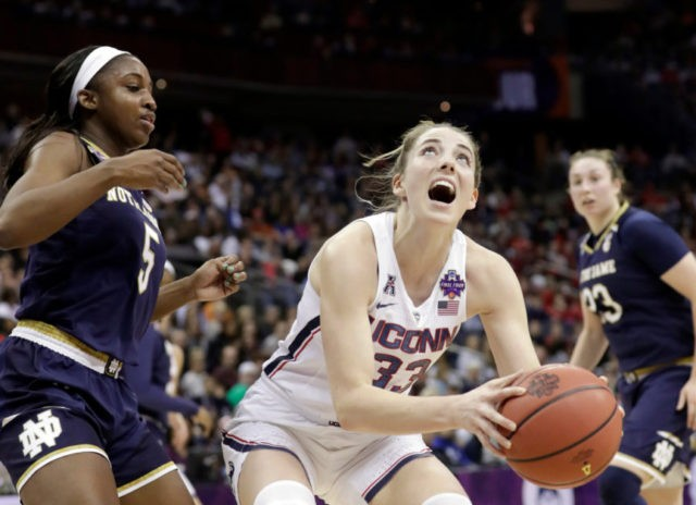 Notre Dame beats UConn on last-second shot in overtime