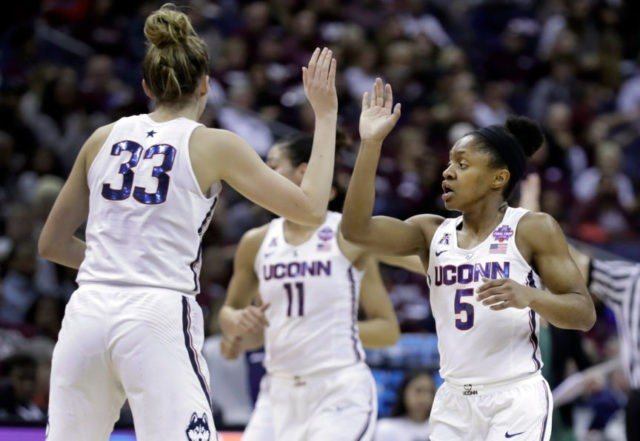 The Latest: UConn leads 60-57 heading into 4th quarter
