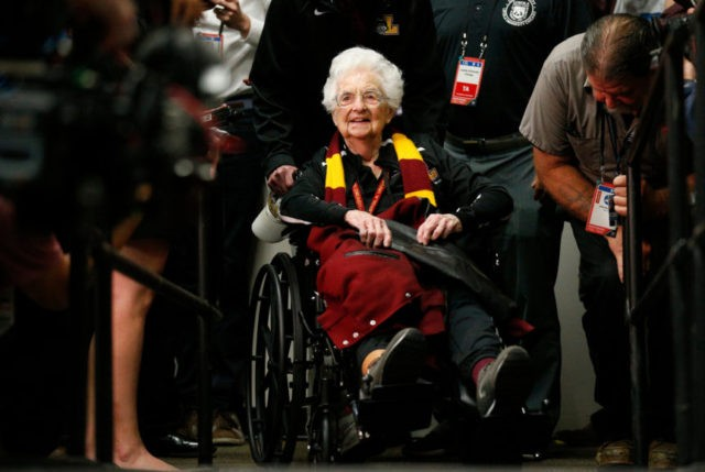 NCAA Latest: Sister Jean arrives courtside at Final Four