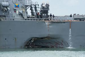 Investigators: USS John McCain collided after 'sudden turn'