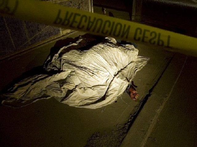A man lies dead after a shootout in Tijuana, Mexico, Monday, Nov. 17, 2008. According to the police, nine men were shot dead Monday in several shootings throughout the city. Tijuana and Ciudad Juarez have both seen nearly daily killings as Mexico is swept up in a wave of drug-related …