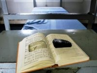 Cell phone found in prison bible.