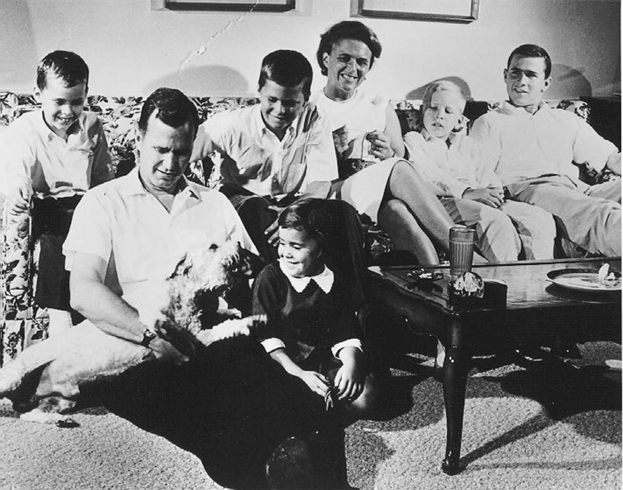 The Bush Family in Houston, Texas, 1964, prior to George H.W. Bush's Victorious Race for United States Congress. George W. Bush is at far right. (AP Photo)