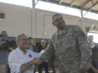 Abbott with National Guard at Border