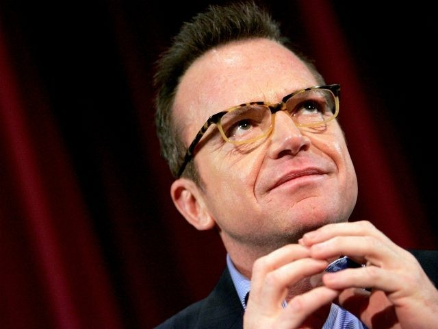 Actor Tom Arnold takes part in a panel discussion for the Variety screening of 'Happy Endings' at the Directors Guild of America Theater July 12, 2005 in New York City. (Photo by Paul Hawthorne/Getty Images)