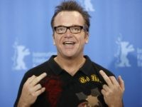 US actor Tom Arnold poses during the photocall of his movie 'Gardens Of The Night' presented in competition for the Golden Bear of the 58th International Berlinale Film Festival on February 9, 2008 in Berlin. AFP PHOTO DDP/AXEL SCHMIDT GERMANY OUT (Photo credit should read AXEL SCHMIDT/AFP/Getty Images)
