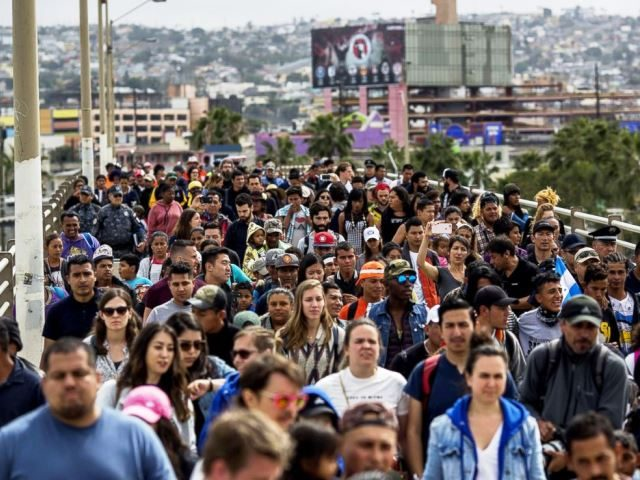 Caravan Migrants march from Tijuana to US side of border -- Getty Images David McNew