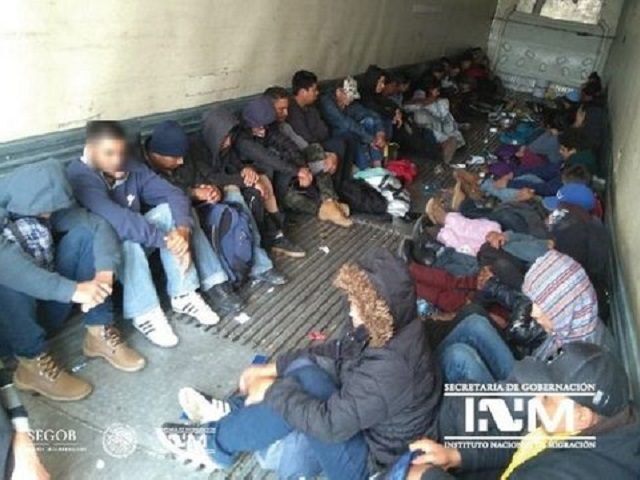 Central American Migrants Locked in Trailer