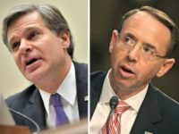 Report: Trump, Rosenstein, Wray Meet at White House over 2016 Spying