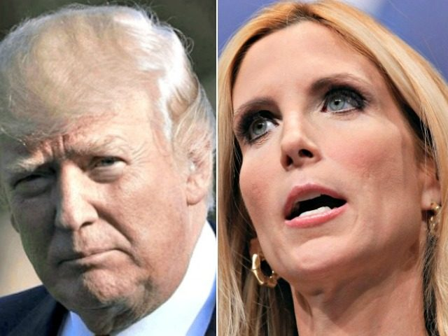Coulter, Trump split