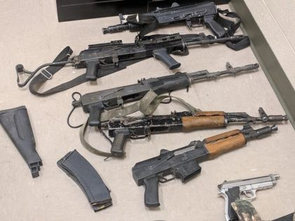 Assault-Style firearms found by Border Patrol agents on three Mexican nationals.