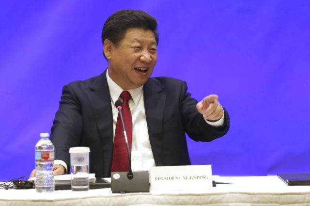 SEATTLE, WA - SEPTEMBER 22: Chinese President Xi Jinping speaks during a meeting with five United States governors to discuss clean technology and economic development September 22, 2015 in Seattle, Washington. Xi is on his first state visit to the U.S. (Photo by Matt Mills McKnight-Pool/Getty Images)