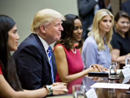 President Trump meeting with women small business owners in White House.