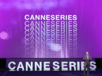 CanneSeries jury president Harlan Coben delivers a speech during the closing ceremony of The Canneseries Television Festival in Cannes on April 11, 2018. / AFP PHOTO / Valery HACHE (Photo credit should read VALERY HACHE/AFP/Getty Images)