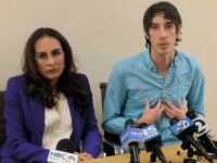James Damore, right, a former Google engineer fired in 2017 after writing a memo about the biological differences between men and women, speaks at a news conference while his attorney, Harmeet Dhillon, listens, Monday, Jan. 8, 2018, in San Francisco. Damore discussed his lawsuit alleging that Google discriminates against workers …