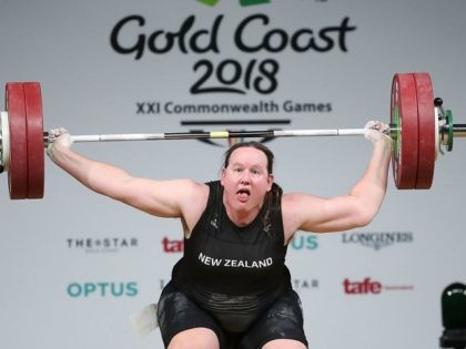 during Weightlifting on day five of the Gold Coast 2018 Commonwealth Games at Carrara Sports and Leisure Centre on April 9, 2018 on the Gold Coast, Australia.