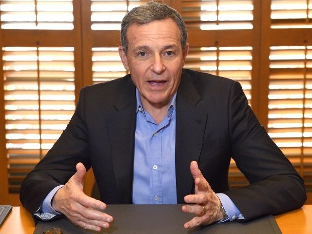 Bob Iger, chairman and chief executive officer of The Walt Disney Company, speaks to members of the press about bringing NFL football back to the Los Angeles area, Thursday, Dec. 10, 2015, in Burbank, Calif. (AP Photo/Mark J. Terrill)
