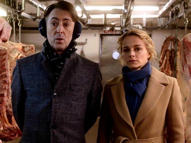 Alan Cumming and Bojana Novakovic in Instinct (CBS, 2018)