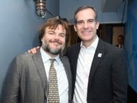 Jack Black and Eric Garcetti (Vivien Killilea / Getty Images for My Friend's Place)