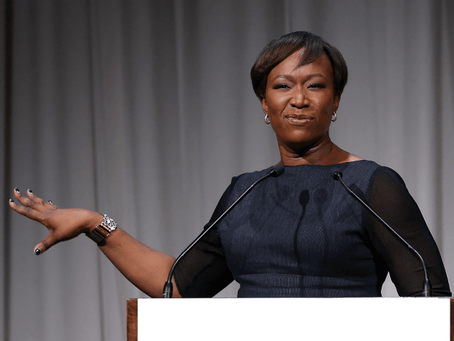 NEW YORK, NY - OCTOBER 29: Host Joy Reid speaks onstage at the 2014 Women's Media Awards at Capitale on October 29, 2014 in New York City. (Photo by Jemal Countess/Getty Images for The Women's Media Center)