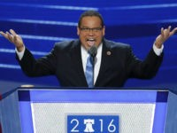 FILE - In this July 25, 2016, file photo, Rep. Keith Ellison, D-Minn., speaks during the first day of the Democratic National Convention in Philadelphia. Ellison, a prominent progressive and the first Muslim elected to Congress, has emerged as an early contender to become chair of the Democratic National Committee, …