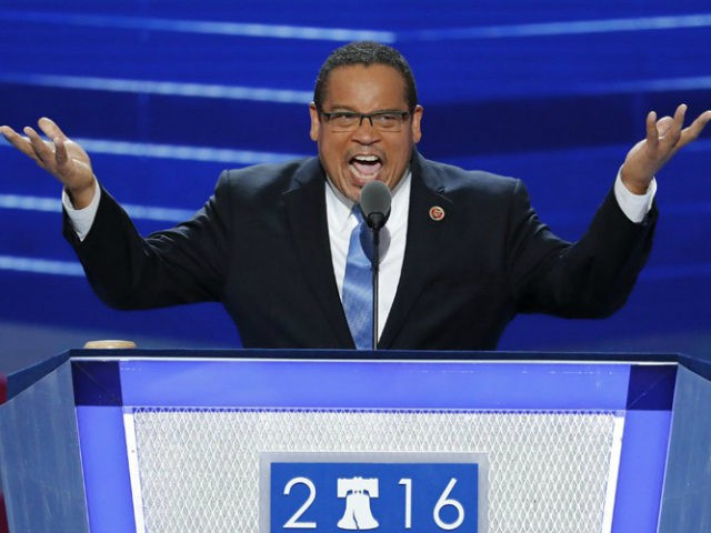 FILE - In this July 25, 2016, file photo, Rep. Keith Ellison, D-Minn., speaks during the first day of the Democratic National Convention in Philadelphia. Ellison, a prominent progressive and the first Muslim elected to Congress, has emerged as an early contender to become chair of the Democratic National Committee, backed by much of the party's liberal wing. (AP Photo/J. Scott Applewhite, File)