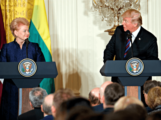Lithuanian President, Trump