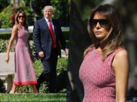 Melania in Azzedine Alaia on Easter