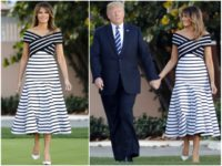 Fashion Notes: Melania Trump Struts in Carolina Herrera at Mar-a-Lago