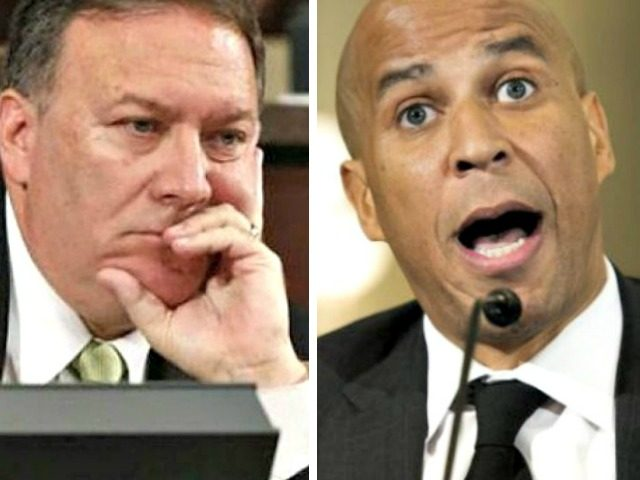Mike Pompeo, Cory Booker