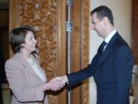Nancy Pelosi and Bashar Assad (Sana / Associated Press)