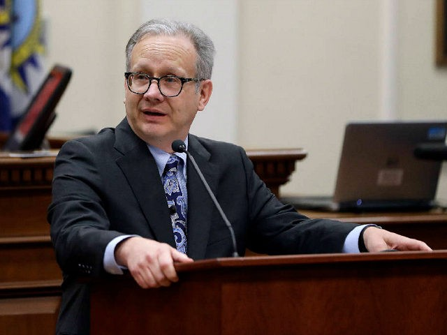 Nashville Mayor David Briley addresses the city council after he was sworn in to replace Mayor Megan Barry Tuesday, March 6, 2018, in Nashville, Tenn. Briley was sworn in hours after Barry pleaded guilty to stealing thousands of dollars from the city while carrying on an extramarital affair with her …