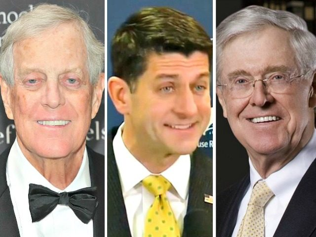 Paul Ryan in a Koch Bros Sandwich