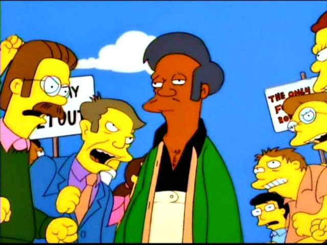 'The Simpsons' responds to criticism about Apu with a dismissal
