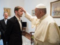 Pope blesses Thomas Evans