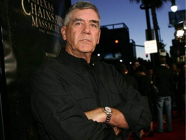 Actor R. Lee Ermey arrives at the premiere of New Line's 'Texas Chainsaw Massacre: The Beginning' at Grauman's Chinese Theatre on October 5, 2006 in Los Angeles, California. (Photo by Michael Buckner/Getty Images)