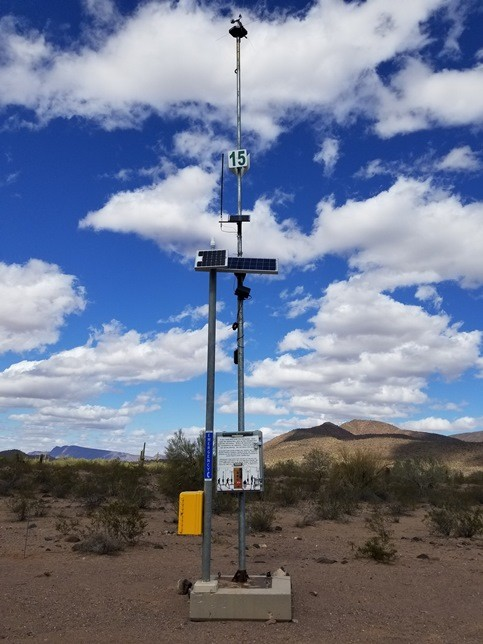 Border Patrol rescue beacon in Arizona desert. (Photo: U.S. Customs and Border Protection)
