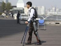ReWalk Israeli exoskeleton (Koji Sasahara / Associated Press)