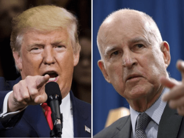Donald Trump and Jerry Brown (Getty / Associated Press)