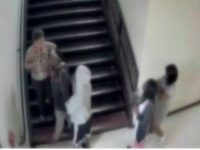 Screenshot of video from inside a Charlotte-Mecklenburg high school