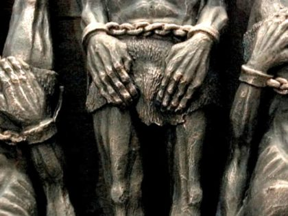 Sulpture of Chained Slaves