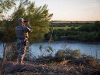 Texas Guardsman on Rio Grande River Border in Texas. (U.S. Army File Photo: Maj. Randall Stillinger)