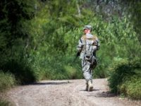Texas National Guardsman on Rio Grande River Border
