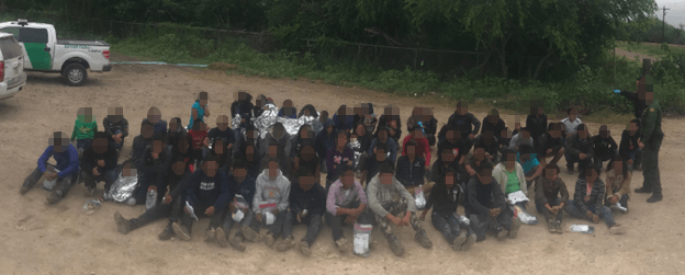 Large group of unaccompanied minors and families apprehended hear Hidalgo, Texas. Photo: U.S. Border Patrol