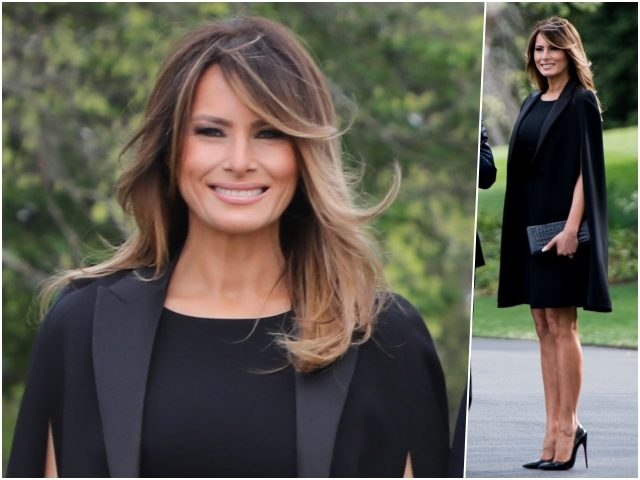 …Fashion Notes: Melania Trump Pays Homage to Parisian Luxury in Givenchy
