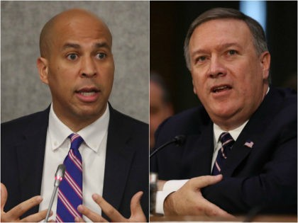 Sen. Cory Booker and Mike Pompeo
