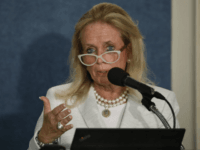 WASHINGTON, DC - SEPTEMBER 13: Rep. Debbie Dingell (D-MI) speaks at a news conference held by Save the US EPA September 13, 2017 in Washington, DC. Activists are speaking out against cutbacks at the EPA instituted by the Trump administration.(Photo by Aaron P. Bernstein/Getty Images)