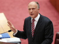 Senator Eric Abetz during Senate question time on July 7, 2014 in Canberra, Australia. Twelve Senators will be sworn in today, with the repeal of the carbon tax expected to be first on the agenda. (Photo by Stefan Postles/Getty Images)