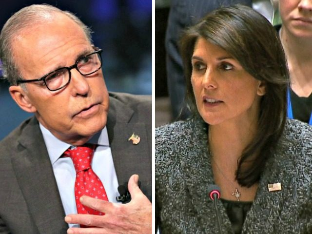 larry Kudlow, nikki-haley
